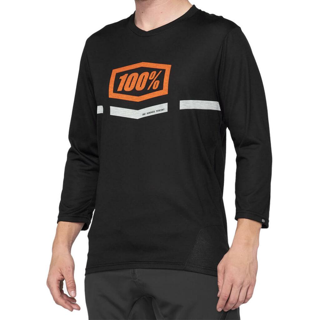100% Airmatic 3/4 Sleeve Black/Orange