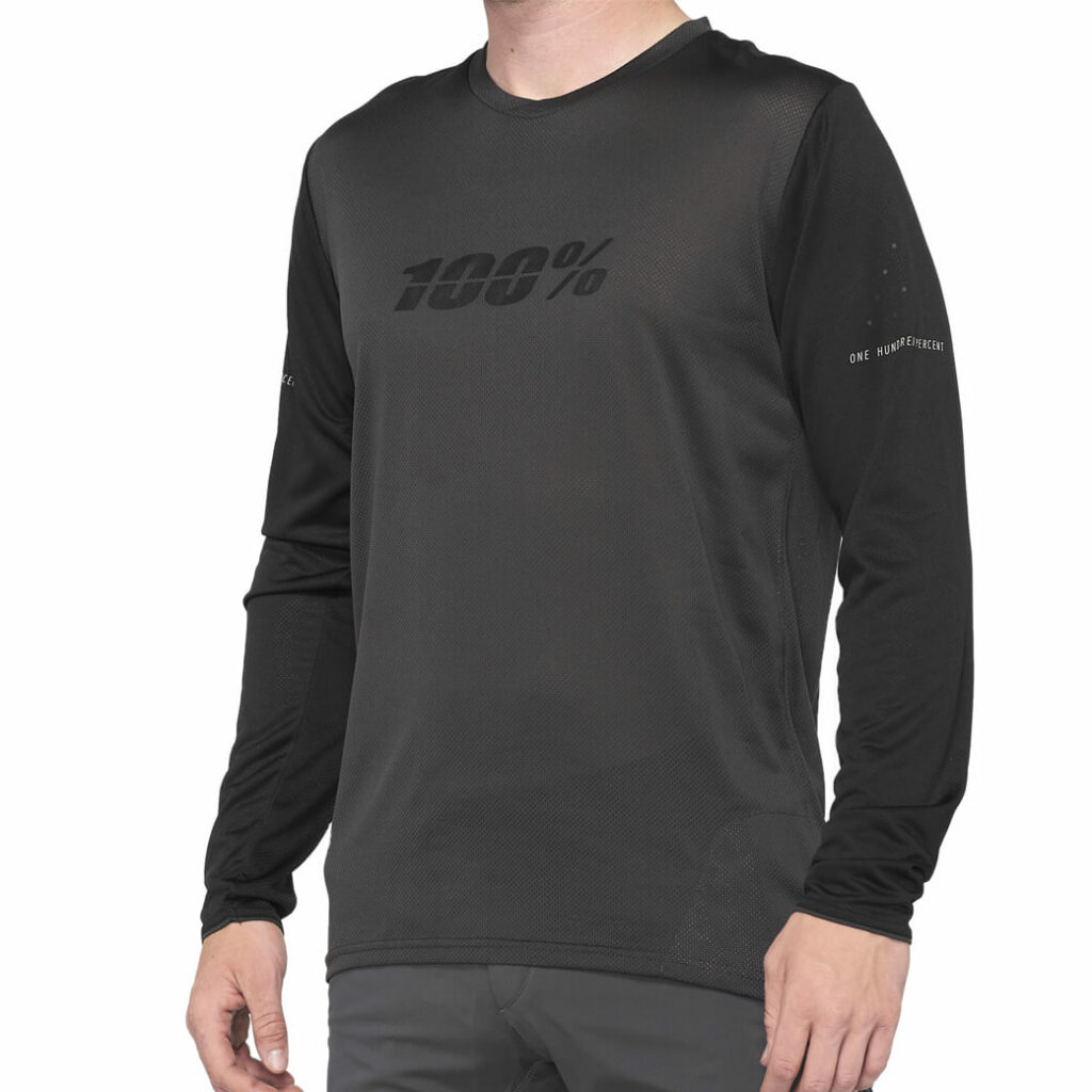 100% Ridecamp Long Sleeve Jersey (Charcoal)