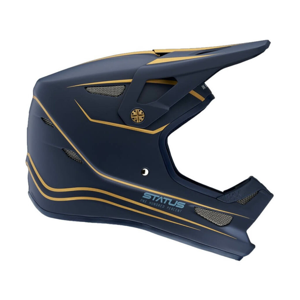 100% status helmet ltd navy MD