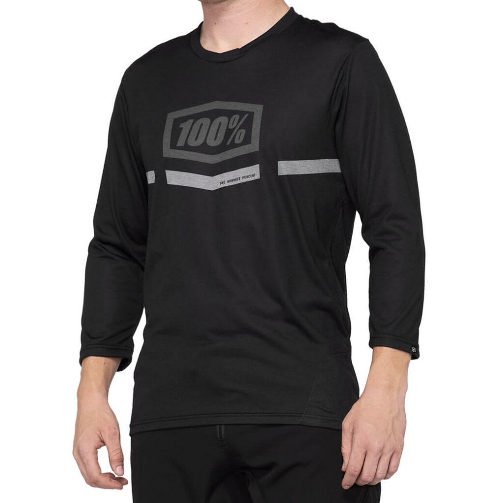 100% Airmatic 3/4 Sleeve Jersey Black LARGE