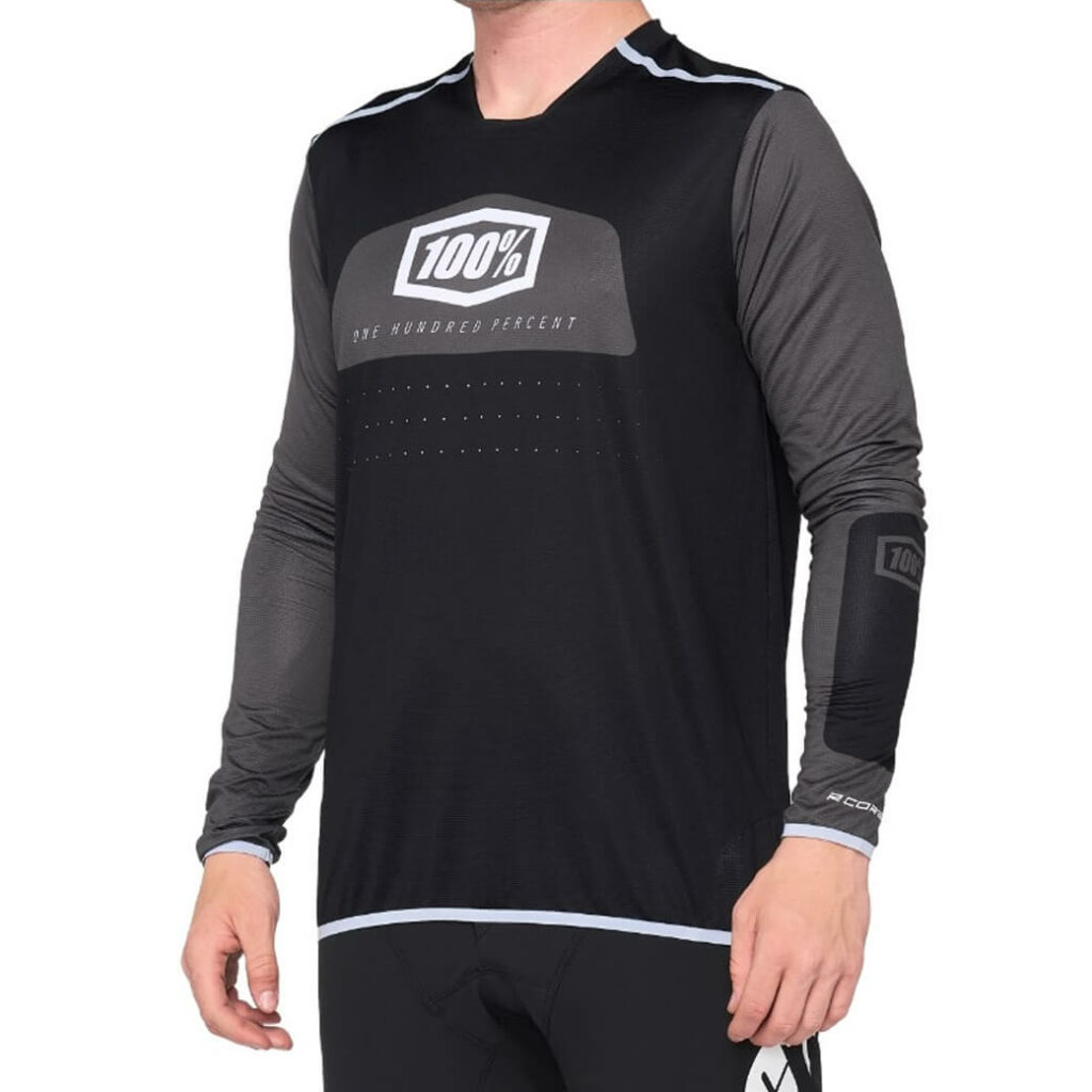 100% R-Core X Jersey Black/White MEDIUM