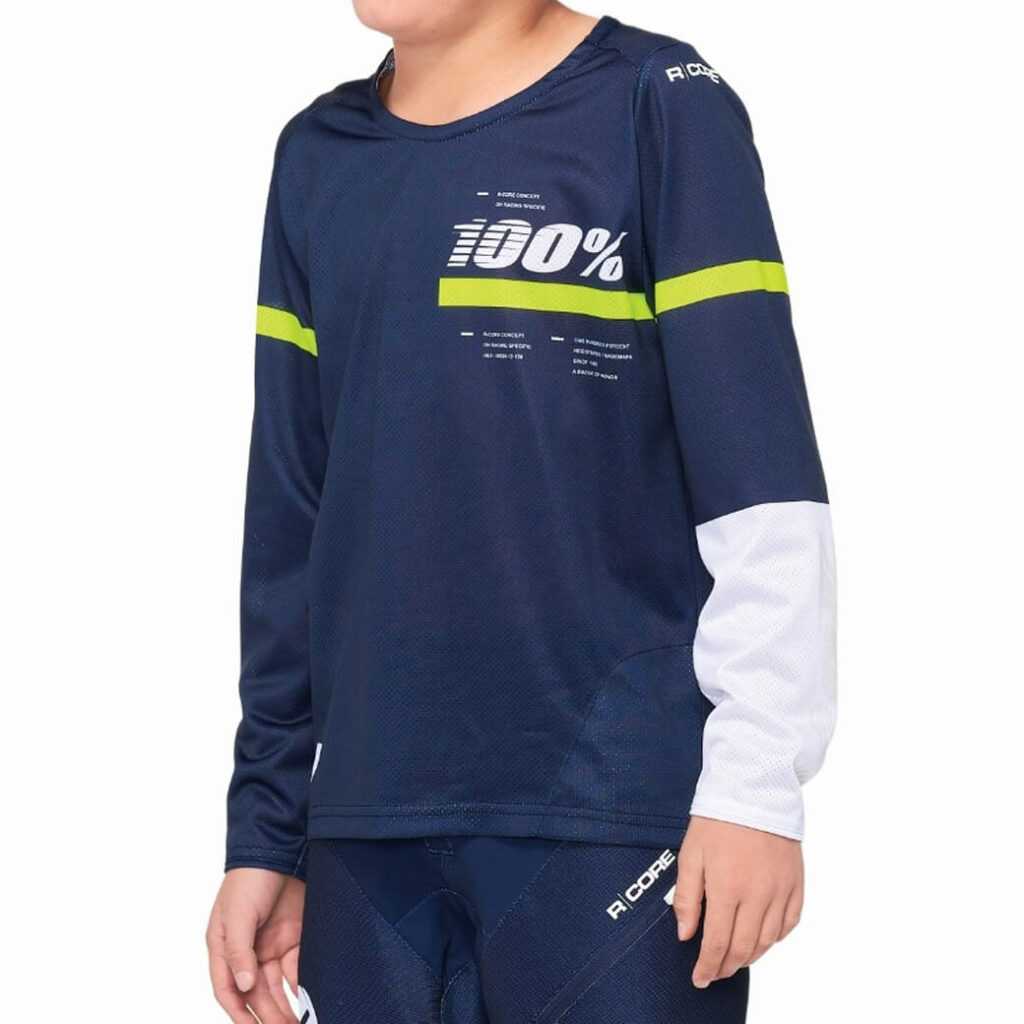 100% R-Core Jersey Youth Blue/Yellow MEDIUM