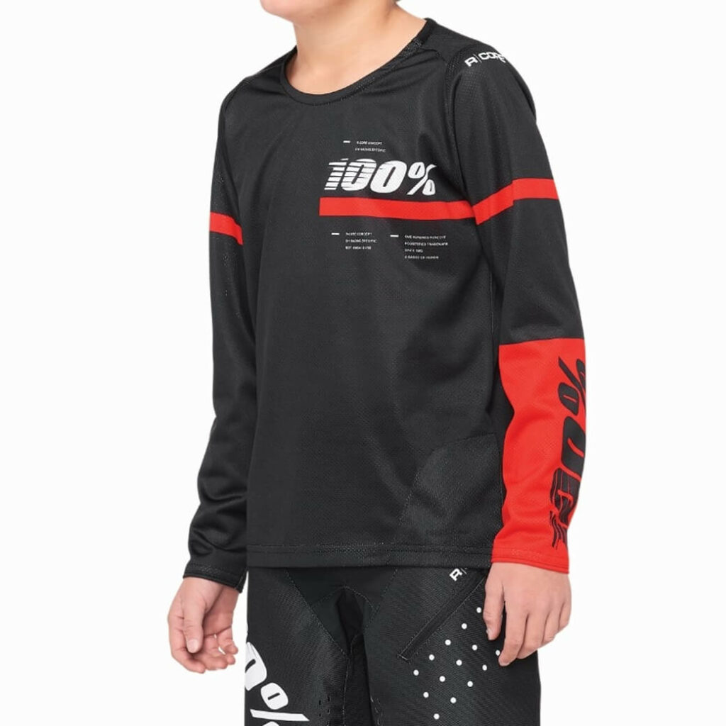 100% R-Core Jersey Youth Black/Red MEDIUM