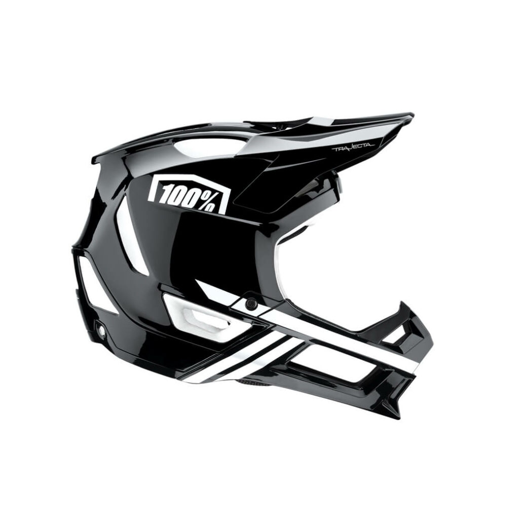 100% Trajecta Helmet Black/White LARGE