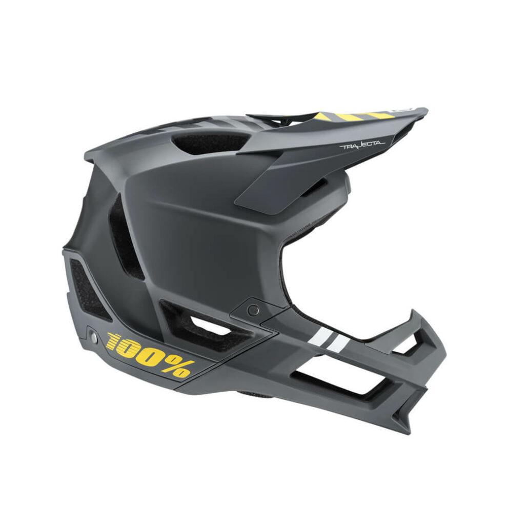 100% Trajecta Helmet Charcoal MEDIUM