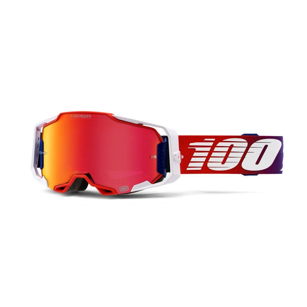 100% ARMEGA Goggle Factory - HiPER Red