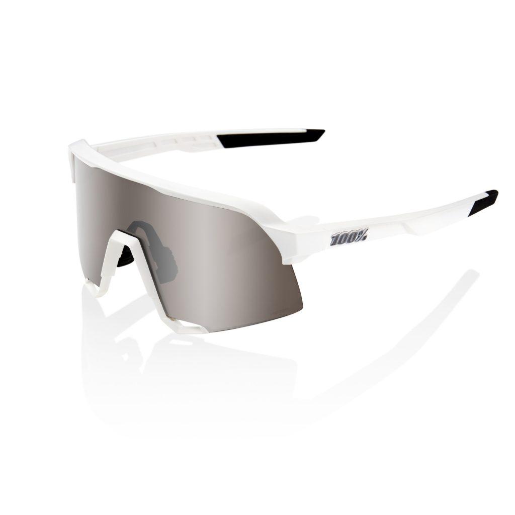 100% S3 - Matte White - HiPER Silver